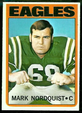 Mark Nordquist 1972 Topps football card