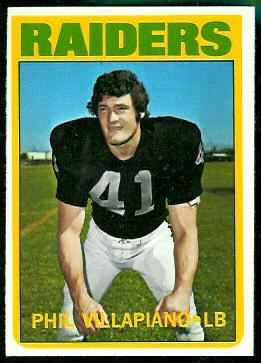 Phil Villapiano 1972 Topps football card