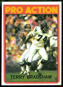 Terry Bradshaw Pro Action 1972 Topps football card