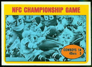NFC Championship Game 1972 Topps football card
