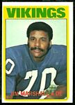 Jim Marshall 1972 Topps football card