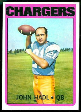 John Hadl 1972 Topps football card