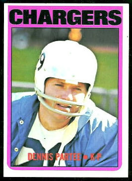 1972 Topps Dennis Partee football card