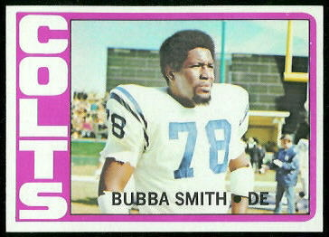 Bubba Smith 1972 Topps football card