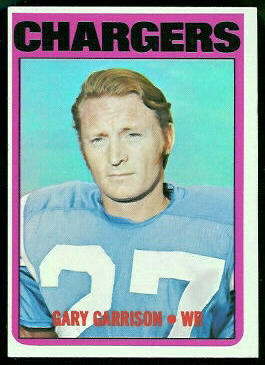Gary Garrison 1972 Topps football card