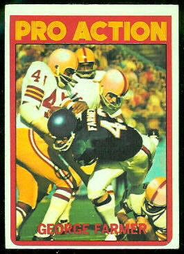 George Farmer Pro Action 1972 Topps football card