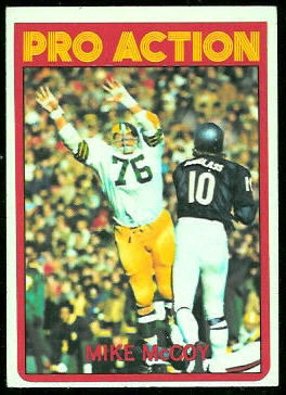 Mike McCoy Pro Action 1972 Topps football card