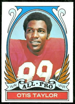 Otis Taylor All-Pro 1972 Topps football card