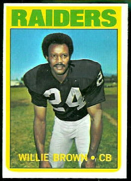 Willie Brown 1972 Topps football card