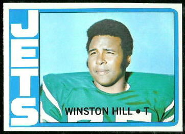 Winston Hill 1972 Topps football card