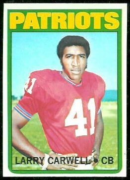 Larry Carwell 1972 Topps football card
