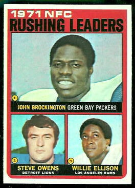 1971 NFC Rushing Leaders 1972 Topps football card