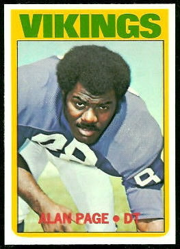 Alan Page 1972 Topps football card