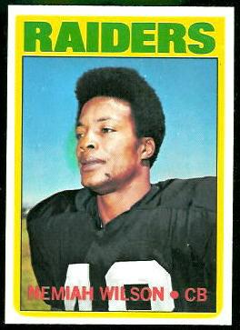 Nemiah Wilson 1972 Topps football card