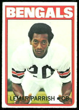 Lemar Parrish 1972 Topps football card