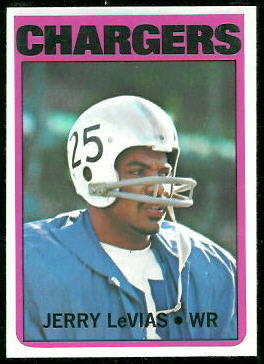 Jerry LeVias 1972 Topps football card