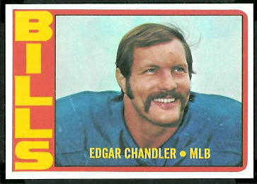 Edgar Chandler 1972 Topps football card