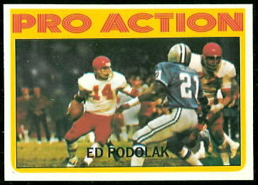 1972 Topps Ed Podolak Pro Action football card