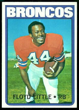 Floyd Little 1972 Topps football card
