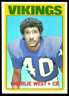 Charlie West 1972 Topps football card