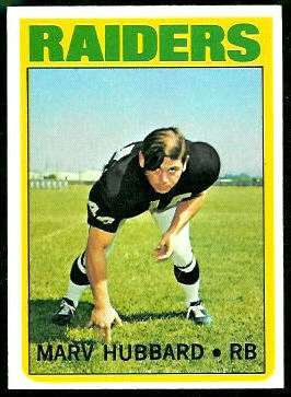 Marv Hubbard 1972 Topps football card