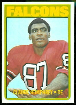 Claude Humphrey 1972 Topps football card
