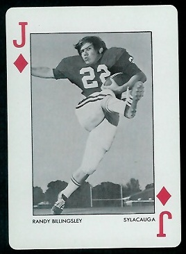 Randy Billingsley 1973 Alabama Playing Cards football card