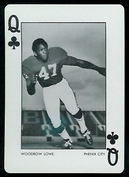 Woodrow Lowe 1973 Alabama playing card