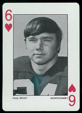 Paul Spivey 1973 Alabama Playing Cards football card