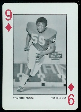 Sylvester Croom 1973 Alabama Playing Cards football card