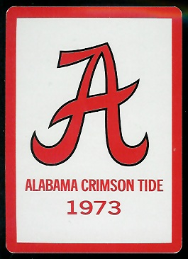 Back of 1973 Alabama football playing card