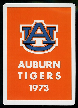 Back of 1973 Auburn football playing card