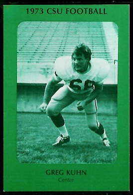 Greg Kuhn 1973 Colorado State football card