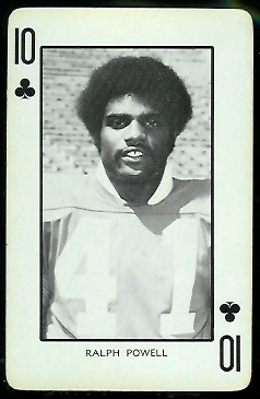 Ralph Powell 1973 Nebraska Playing Cards football card