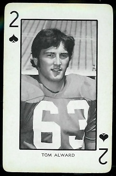 Tom Alward 1973 Nebraska Playing Cards football card