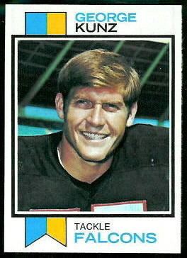 George Kunz 1973 Topps football card