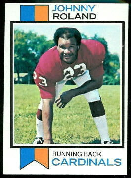 Johnny Roland 1973 Topps football card