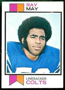 Ray May 1973 Topps football card