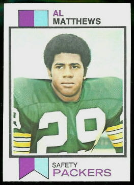Al Matthews 1973 Topps football card