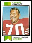 Charlie Krueger 1973 Topps football card