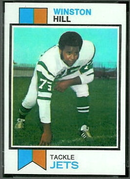 Winston Hill 1973 Topps football card