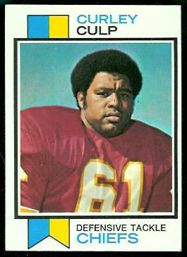 1973 Topps Curley Culp rookie football card