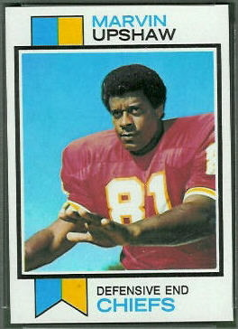 Marvin Upshaw 1973 Topps football card