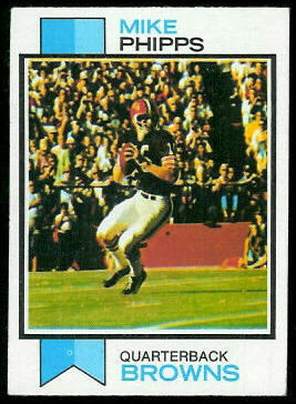 Mike Phipps 1973 Topps football card