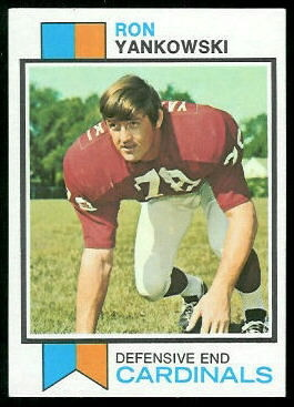 Ron Yankowski 1973 Topps football card