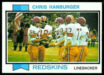 Chris Hanburger 1973 Topps football card