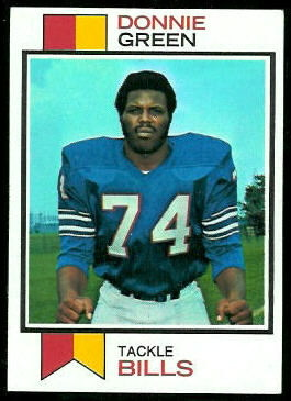Donnie Green 1973 Topps football card