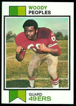 Woody Peoples 1973 Topps football card
