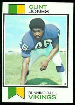 Clint Jones 1973 Topps football card