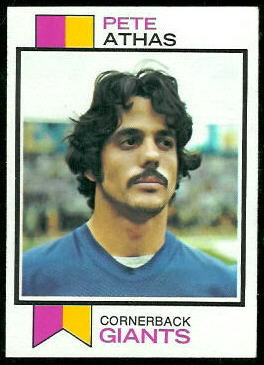 Pete Athas 1973 Topps football card